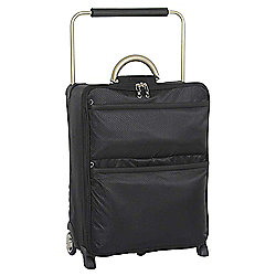 IT Luggage World's Lightest 2-Wheel Suitcase, Black Small