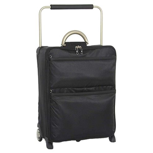 IT Luggage World's Lightest Suitcase, Black Small