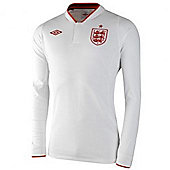 2012-13 England Long Sleeve Home Shirt (Kids) - White