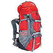 Yellowstone Adventurer Rucksack, Red 55+5L