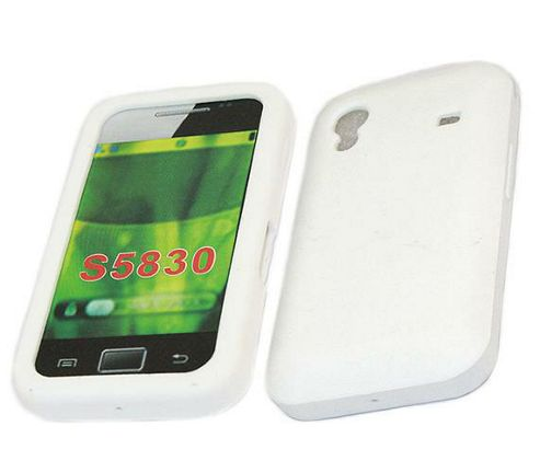 SoftSkin Silicone Case - Samsung S5830 Galaxy Ace (White)