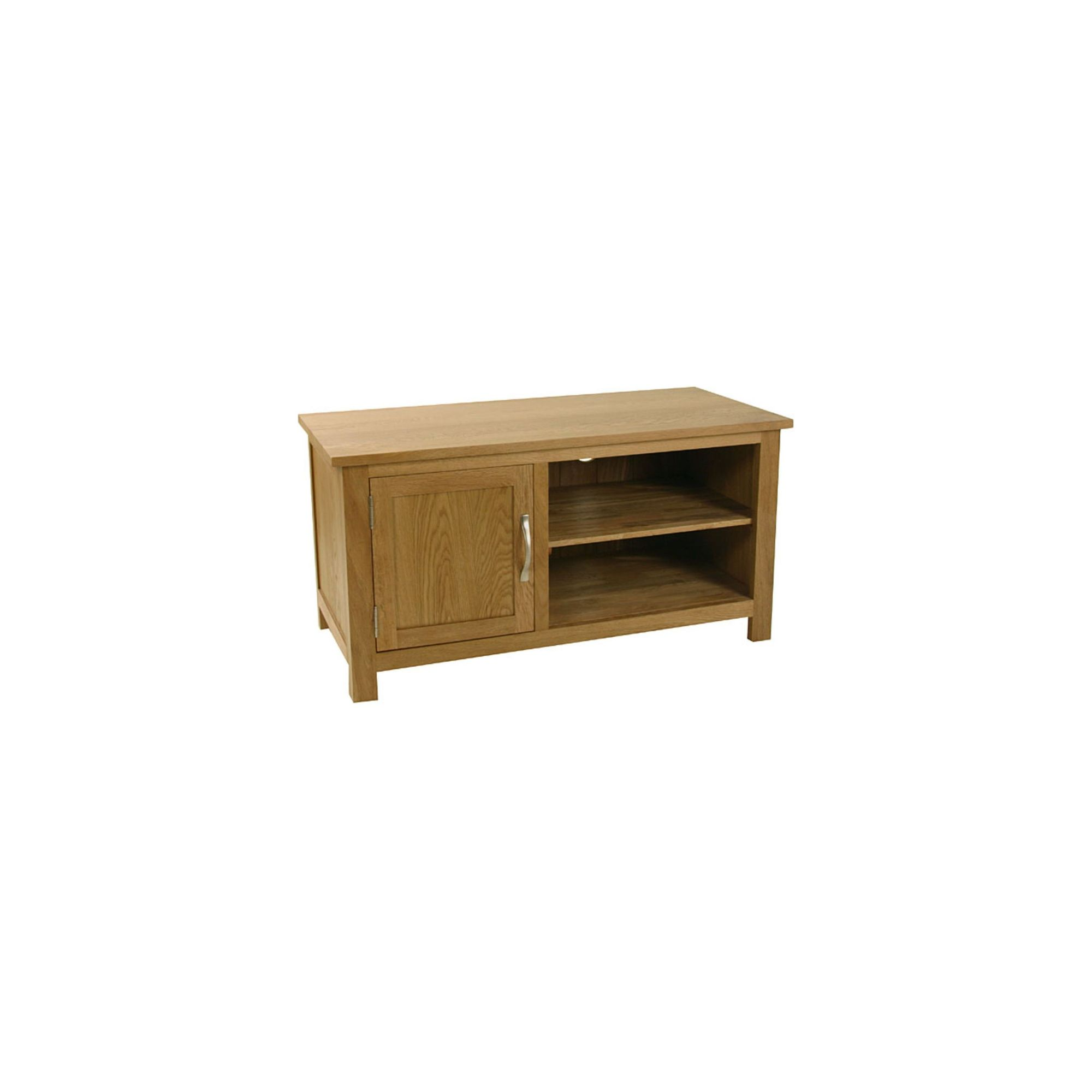Kelburn Furniture Essentials 97cm TV Stand in Light Oak Stain and Satin Lacquer at Tesco Direct