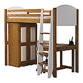 Verona High Sleeper Bed - White - Set 3