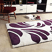 Bowron Sheepskin Shortwool Design Baroque Number 3 Cherry Rug - 180cm H x 120cm W x 1cm D