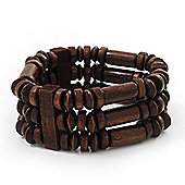 Fancy Multistrand Wood Bracelet - up to 19cm wrist