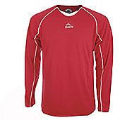 Bukta League Red & White Long Sleeve Football Shirts - Multi