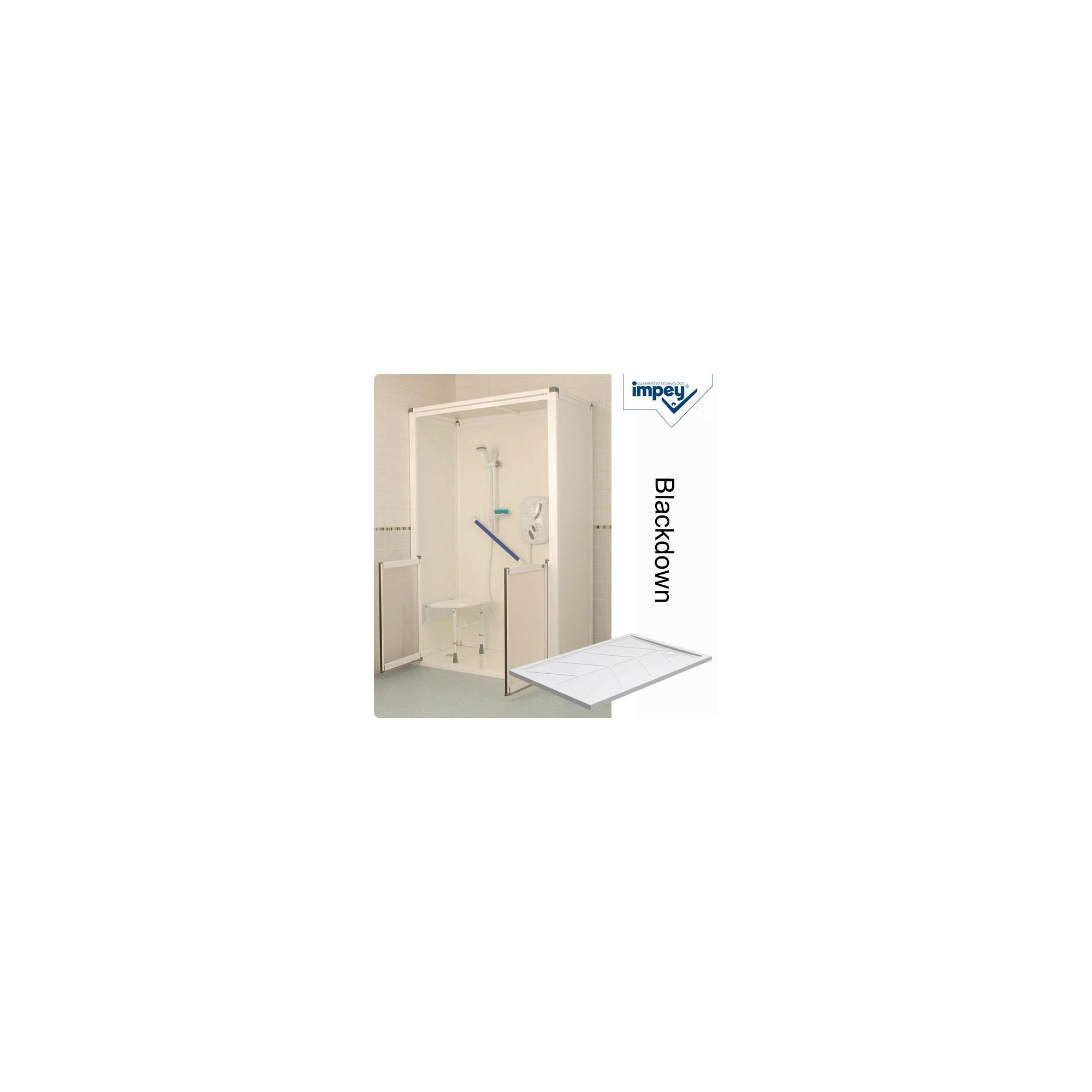 Impey Snowdon Swift-Fit Shower Cubicle with Blackdown Shower Tray at Tesco Direct