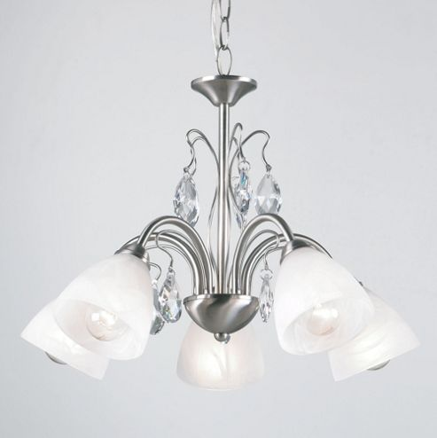 Endon Lighting Roma Chandelier in Matt Nickel
