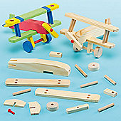 Wooden Aeroplane Craft Kits (Pack of 2)