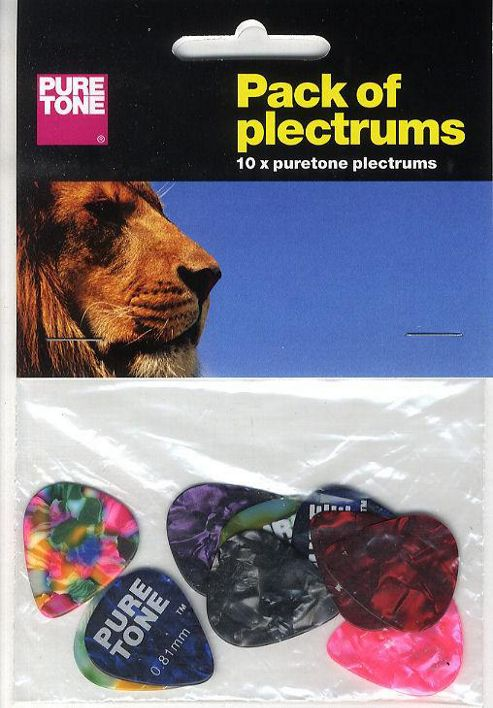 Pure Tone: Pack Of Plectrums (10 Assorted).