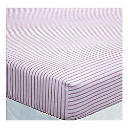 Catherine Lansfield Cosy Corner Tartan Stripe Red  Fitted Sheet - Single