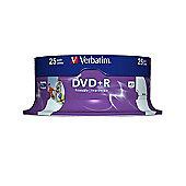 Verbatim DVD-R Wide Inkjet Printable ID Brand