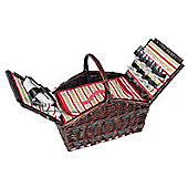 Cilio Picknick-Korb 'Como' Brown Picnic Basket, 4 Person