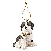 Collie Dog Christmas Tree Decoration