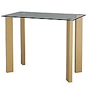 Huntsman - Glass Office Desk / Small Dining Table - Oak