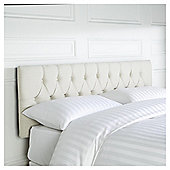 Preston Headboard Linen Effect Cream Double