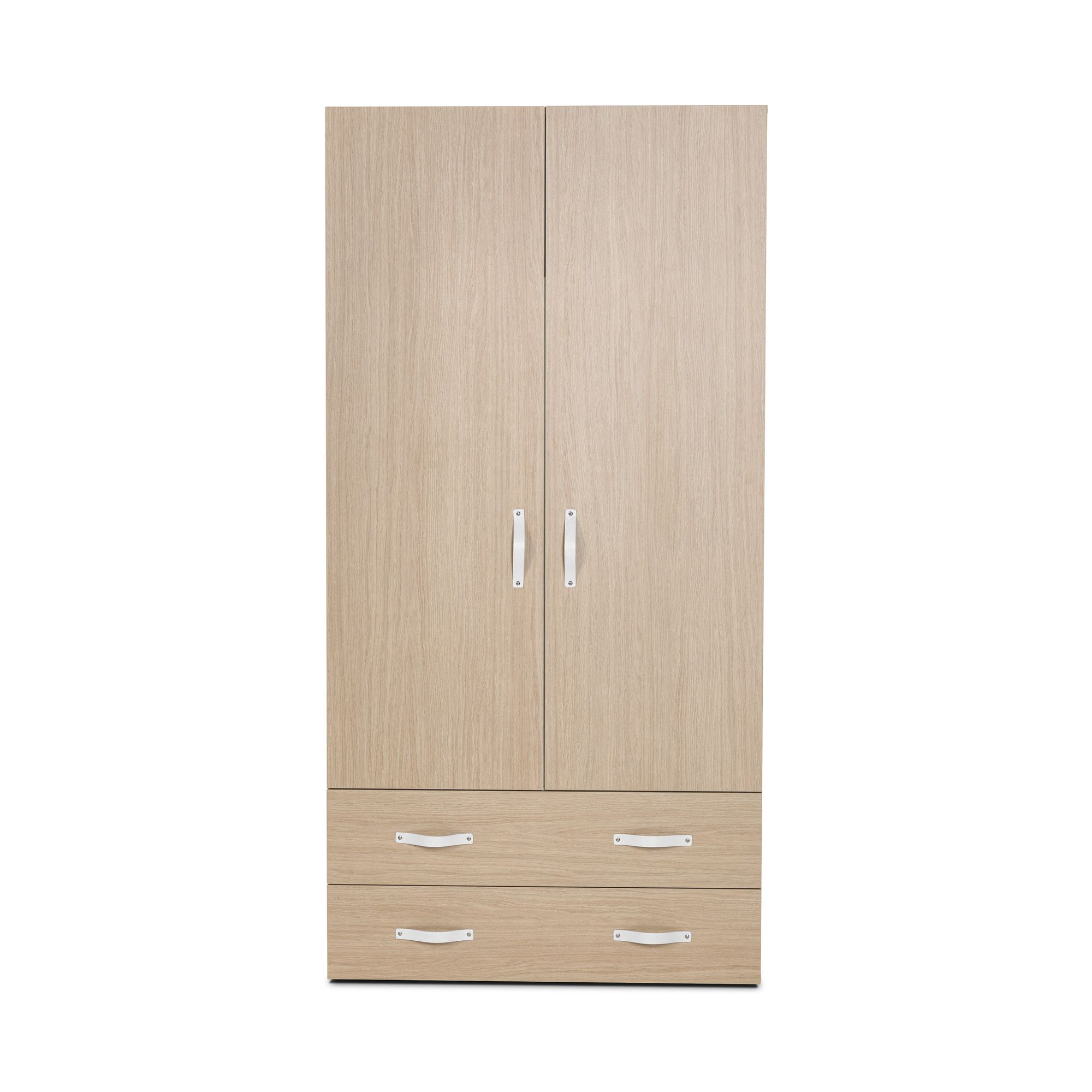 Didit Two-Drawer Wardrobe - Essential Oak Light at Tesco Direct