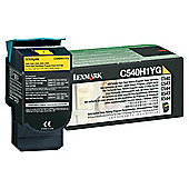 Lexmark High Yield Return Program Toner Cartridge - Yellow