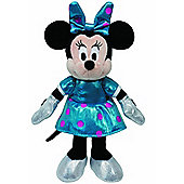TY Sparkle Minnie Mouse Teal Sparkle with sound