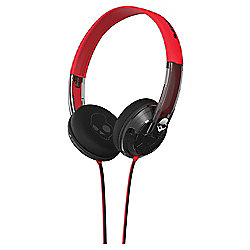 Skullcandy Uprock Spaced Out Overhead Headphones with mic – Red and Black