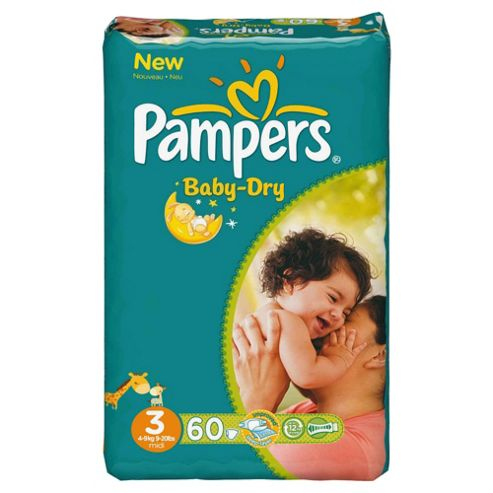 Pampers Baby Dry Economy Pack Midi 60 (Size 3)