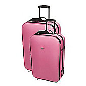 Confidence Luggage Expandable Pink Suitcases With Wheels Lightweight, Set Of 2