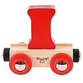 Bigjigs Rail Rail Name Letter I (Red)