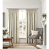 Fusion Flora Lined Pencil Pleat Curtains Natural - 66x90