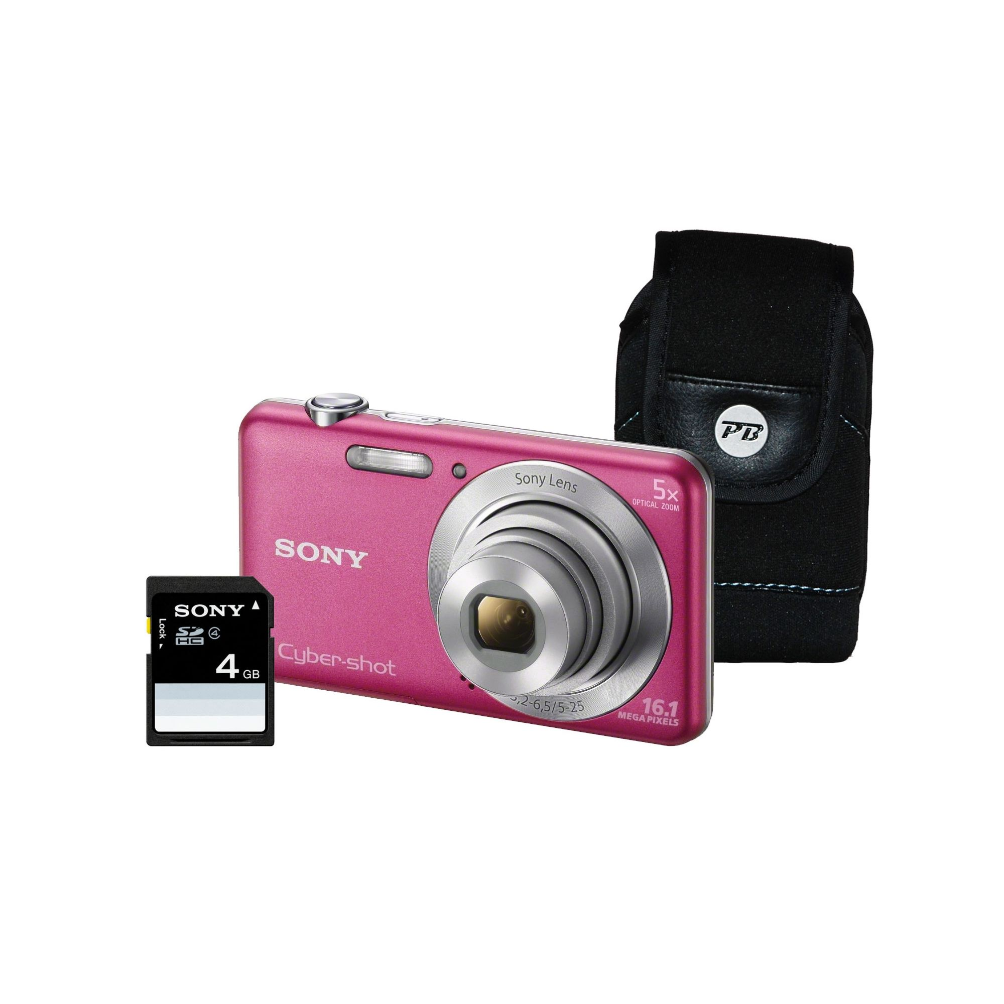 Sony DSC-W710 Pink Camera Kit inc 4GB SD Card and Case