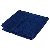 Tesco 100% Combed Cotton Face Cloth Tomato Navy Blue