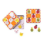 Bigjigs Toys BJ240 Noughts and Crosses (Cat and Mouse / Ladybird and Bee) (One Supplied)