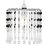 Acrylic Crystal Ceiling Pendant Light Shade in Clear & Black