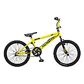 Rooster Big Daddy 20 BMX Yellow/Black with Spoke Wheels