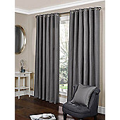 Tibet Ready Made Eyelet Curtains - Silver