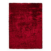 Esprit New Glamour Red Shag Rug - 70cm x 140cm
