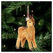 Festive Reindeers Hanging Decoration, 3 Pack