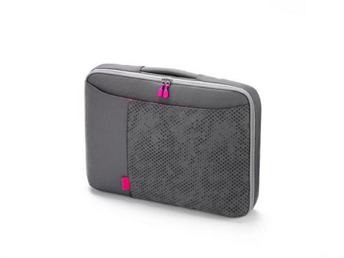 Dicota Bounce Slim Case (Grey/Pink) for 15 inch to 16.4 inch Notebook