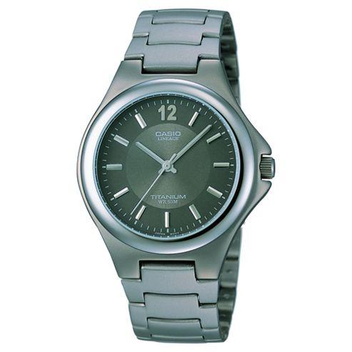 Casio LIN163/8A Analogue Watch with Titanium Bracelet
