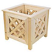 Square Nordic Spruce Wooden Lattice Planter