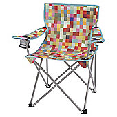 Tesco Folding Camping Festival Chair, Colour Block