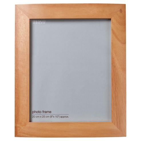 Tesco curve light wood frame 8x10