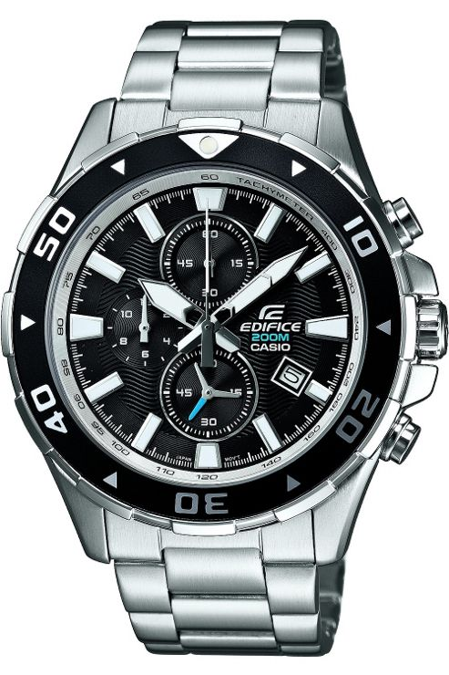 Casio Edifice Chronograph Stainless Steel Bracelet Watch EFM-501D-1AVEF