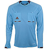 adidas Mens Blue Long Sleeved Formotion Referee Shirt Jersey - Blue