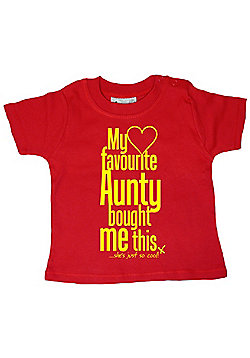 Dirty Fingers My Favourite Aunty bought me this She's Cool! T-shirt - Red
