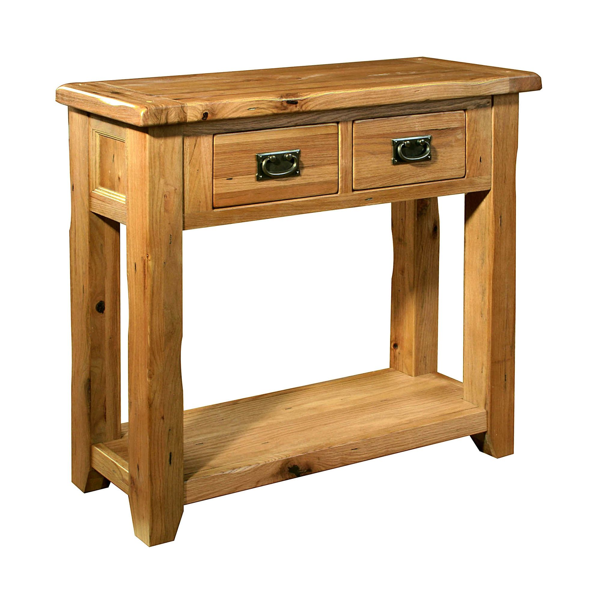 Kelburn Furniture Bordeaux Small Console Table in Medium Oak Stain and Satin Lacquer at Tesco Direct
