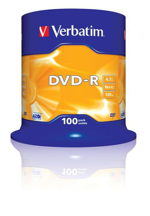 Verbatim DVD-R 4.7GB 16x Matt Silver (100 Pack Spindle)