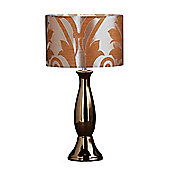 Premier Housewares Glamour Table Lamp - Gold - Gold