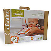 Infantino Fresh Squeezed Squeeze Station 50 Pouch Pack Check 50 Pouch Pack Only