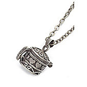 Vintage Silver Style Heart Box Pendant