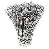 Silver frosted floral arrangement